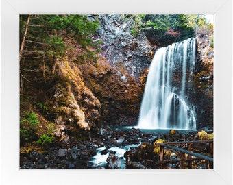 Japan Waterfall Framed Print, Photography Print, Original Fine Art Photography, Framed Travel Print