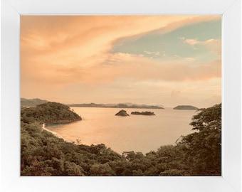 Golden Hour Framed Print, Beach Photography Print, Sunset Art, Original Fine Art Photography, Framed Travel Print