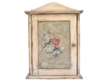 Key Box, Original Wall Key Cabinet, Key Wall Holder, Key Organizer, Vintage  Wall Key Cabinet, Wooden Box For Keys, Stylish Decoration, Roses