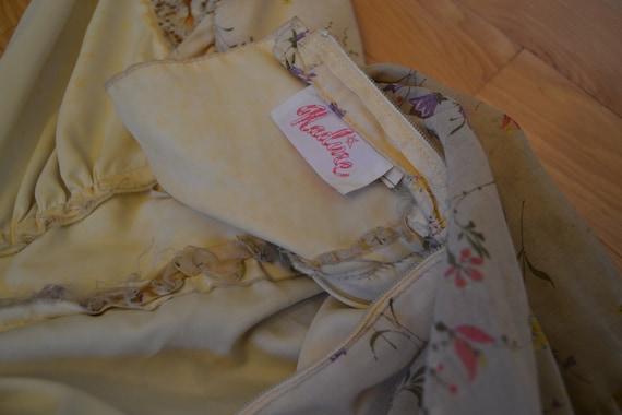 70's Nadine Halter Top Floral Prairie Dress - image 5