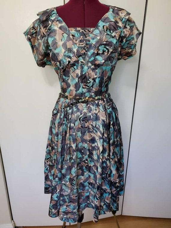 50's Atomic Print Dress - image 1