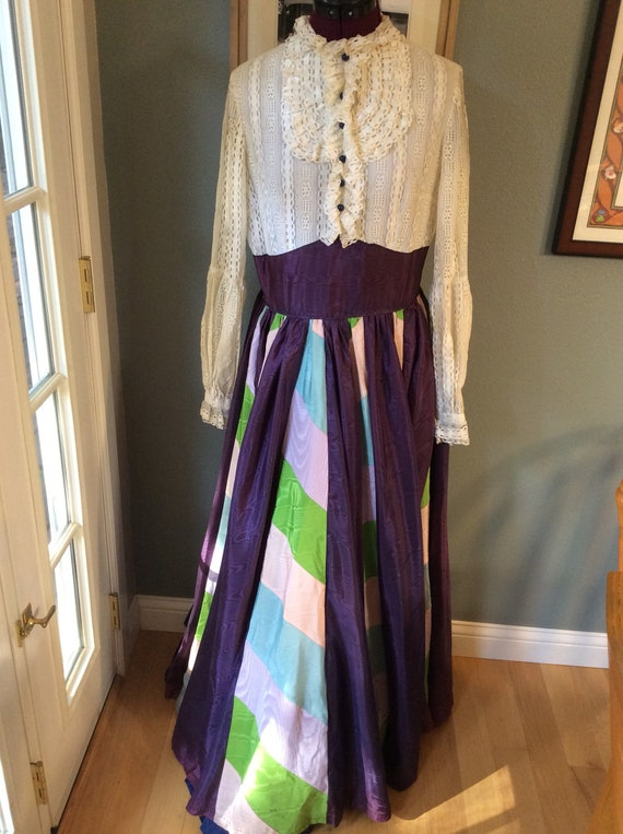 Vintage Lace Patchwork Festival Dress