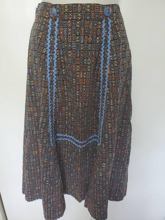 Mid Century Modern Atomic Novelty Print Skirt - image 1