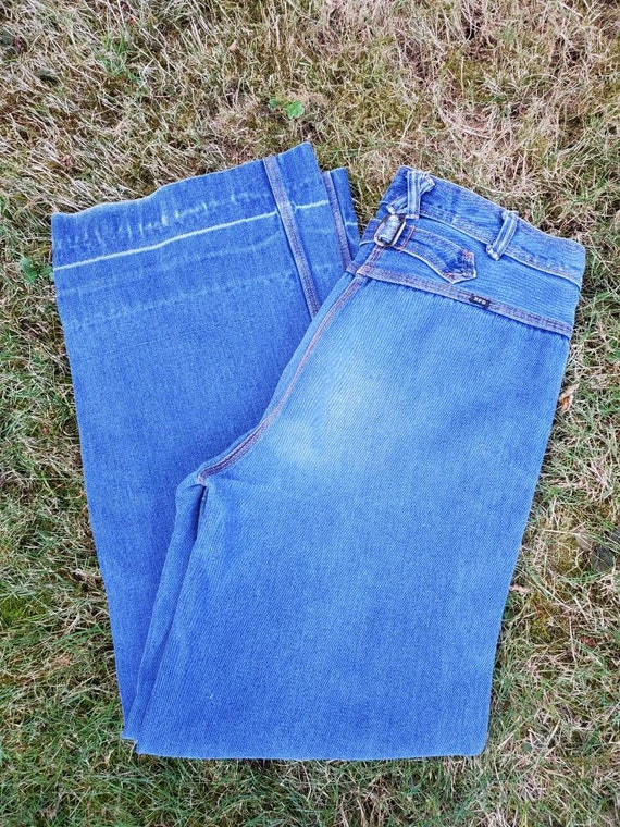 70's BFD Back Buckle Wideleg Jeans