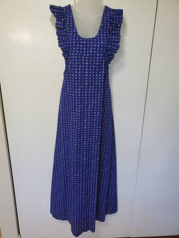 Vintage Floral Pinafore Maxi Dress