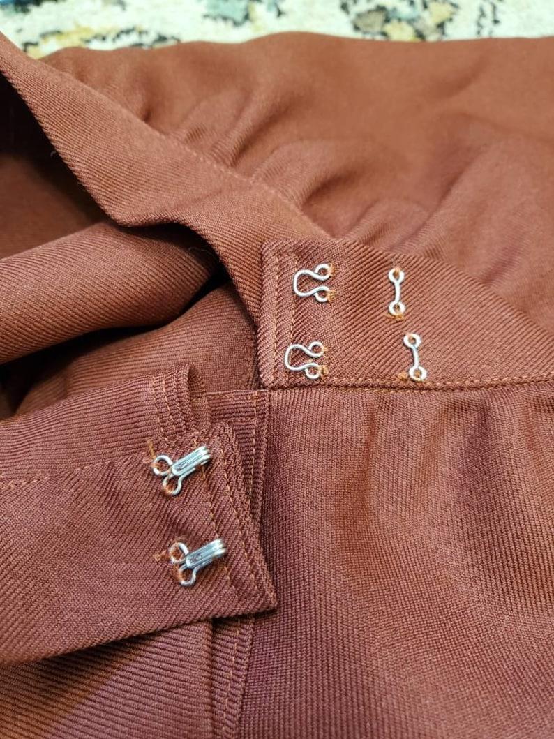 70/'s Handmade Lace and Velvet Maxi Skirt