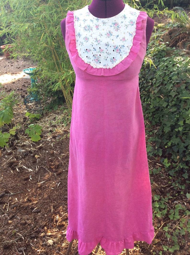Vintage Lola Jrs Hawaii Floral Lace Dress