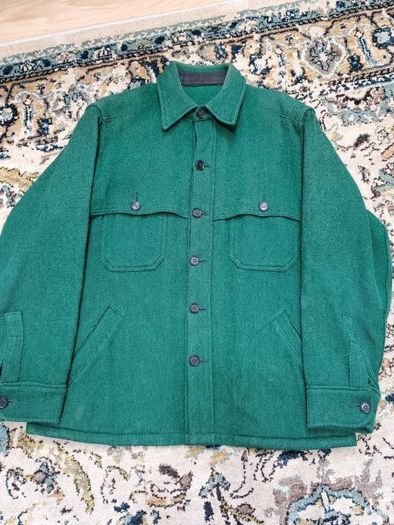 60's Forest Green Wool Hunting Jacket