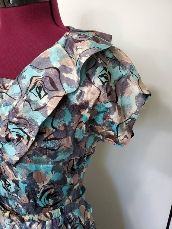 50's Atomic Print Dress - image 3