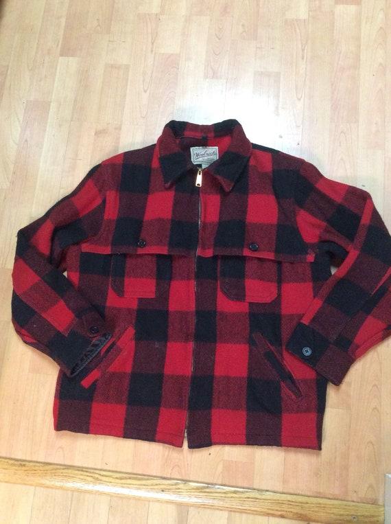 587f393fb571f Vintage Woolrich Buffalo Plaid Outdoor Jacket | Etsy