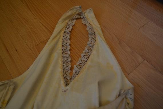70's Nadine Halter Top Floral Prairie Dress - image 4