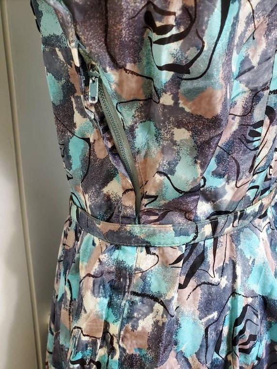 50's Atomic Print Dress - image 6