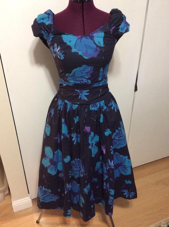 Vintage Laura Ashley Floral Dress