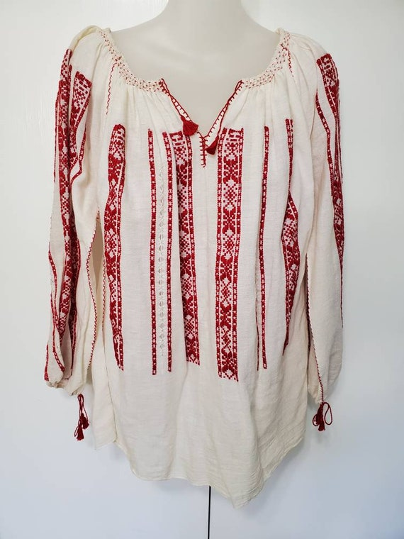 Vintage Embroidered Folk Blouse