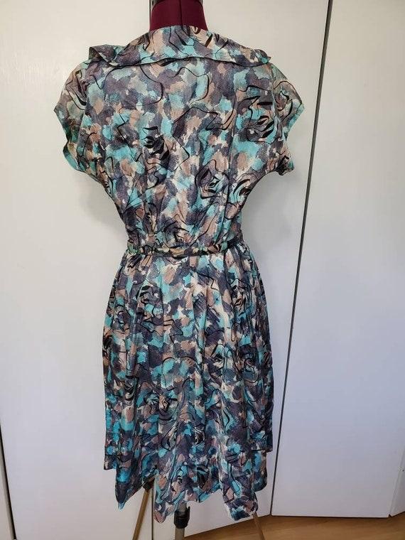 50's Atomic Print Dress - image 5