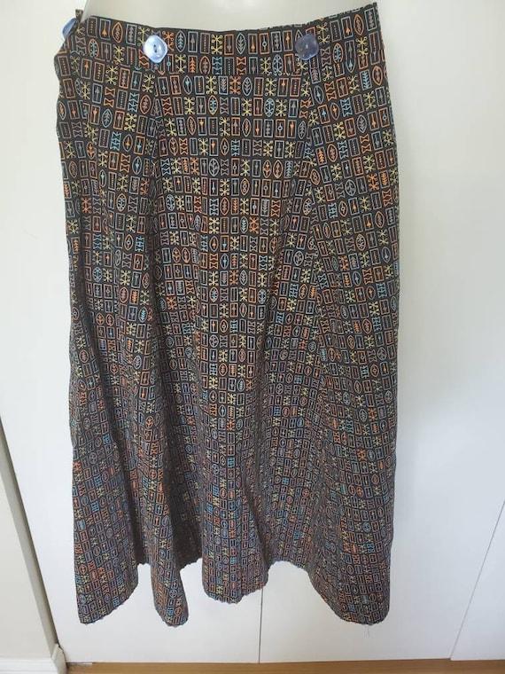 Mid Century Modern Atomic Novelty Print Skirt - image 5