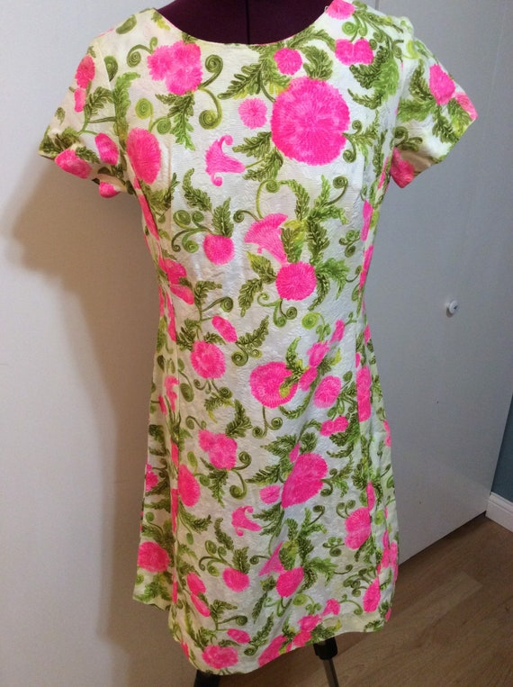 60's Alice of California Floral Dress