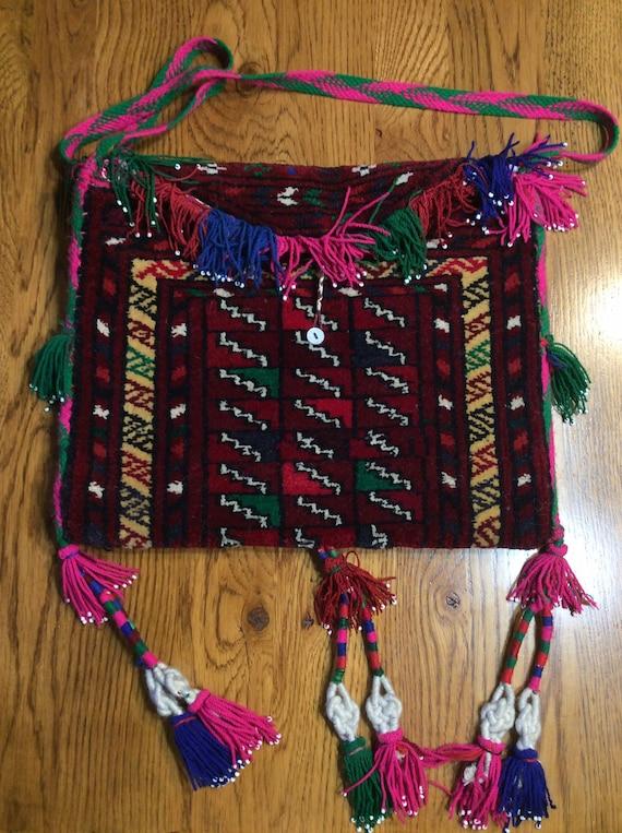 Vintage Bohemian Carpet Bag