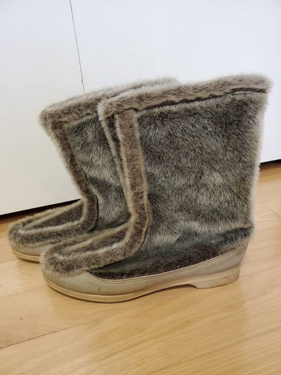 70's Snowland Faux Fur Moccasin Snow Boots