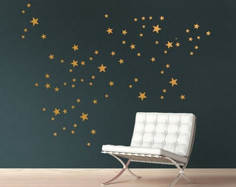 Metal Effect Star Wall Stickers-Decals-Wall Stickers-Star Decals-Star Wall Stickers-Metal Effect Decals-Metal Effect Wall Stickers