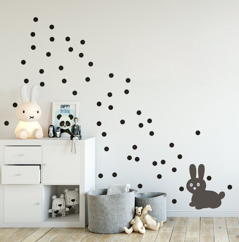 small & mini polka dots wall sticker wall decal dots | etsy