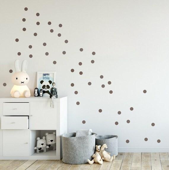 Kleine konfetti wandsticker dots grau wandtattoo punkte a 3 etsy - Wandsticker punkte ...