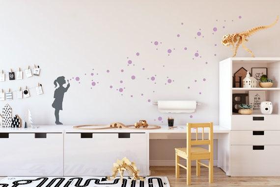 Kwekerij muur stickers bubble meisje bubbels muur stickers etsy
