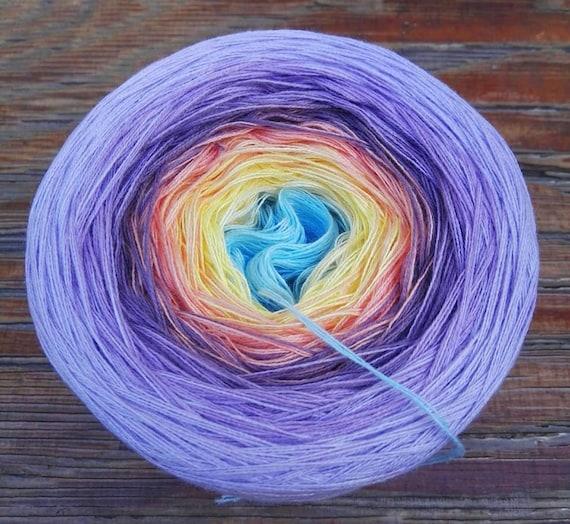 hand dyed multicolor yarn soft cotton-acrylic yarn Picnic Magic Beauty Ball
