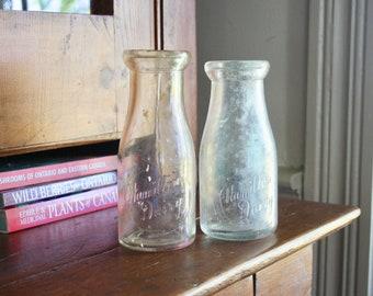 e08e502122fe Glass milk bottles | Etsy