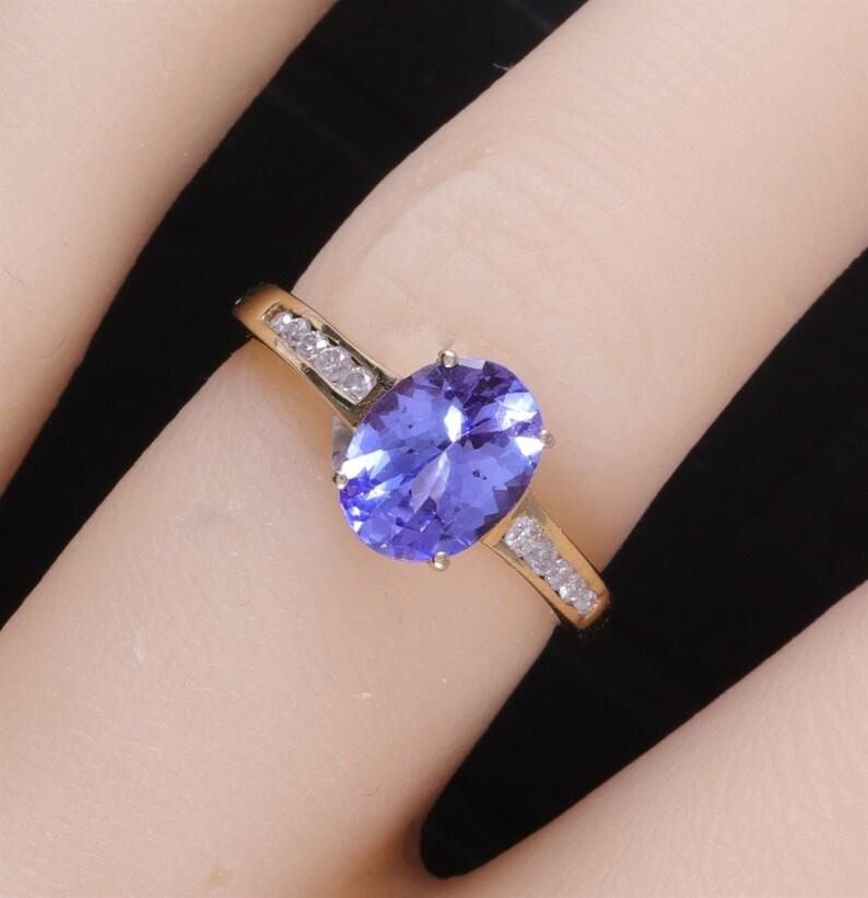 291ba6507f308 Fiery Estate Yellow Gold 1.70 Ct Natural Tanzanite & Diamond Ring