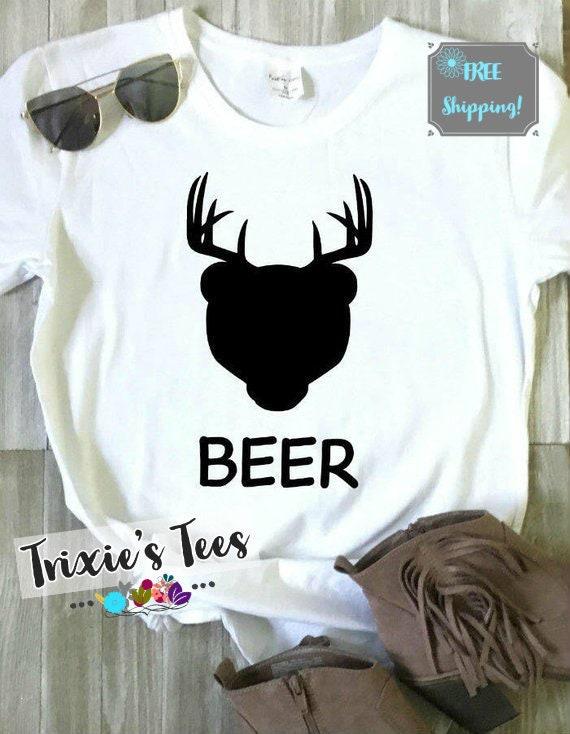 Beer Shirt Deer Plus Bear Equals Beer Deer Antlers Bear Etsy