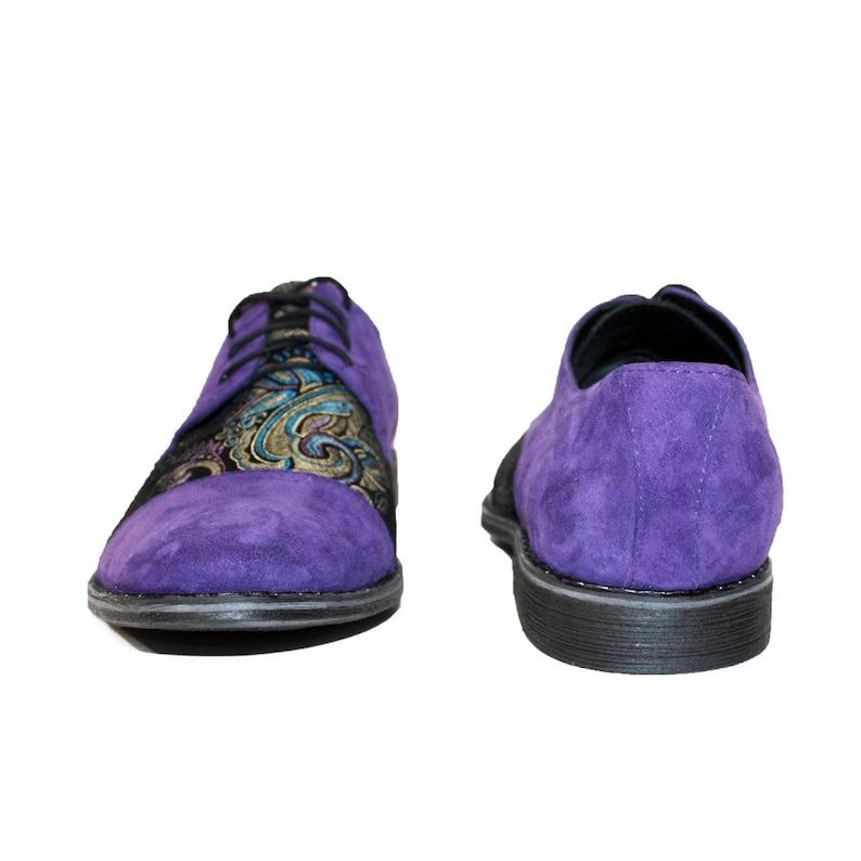 Handmade Colorful Italian Men Shoes Modello Fioletto