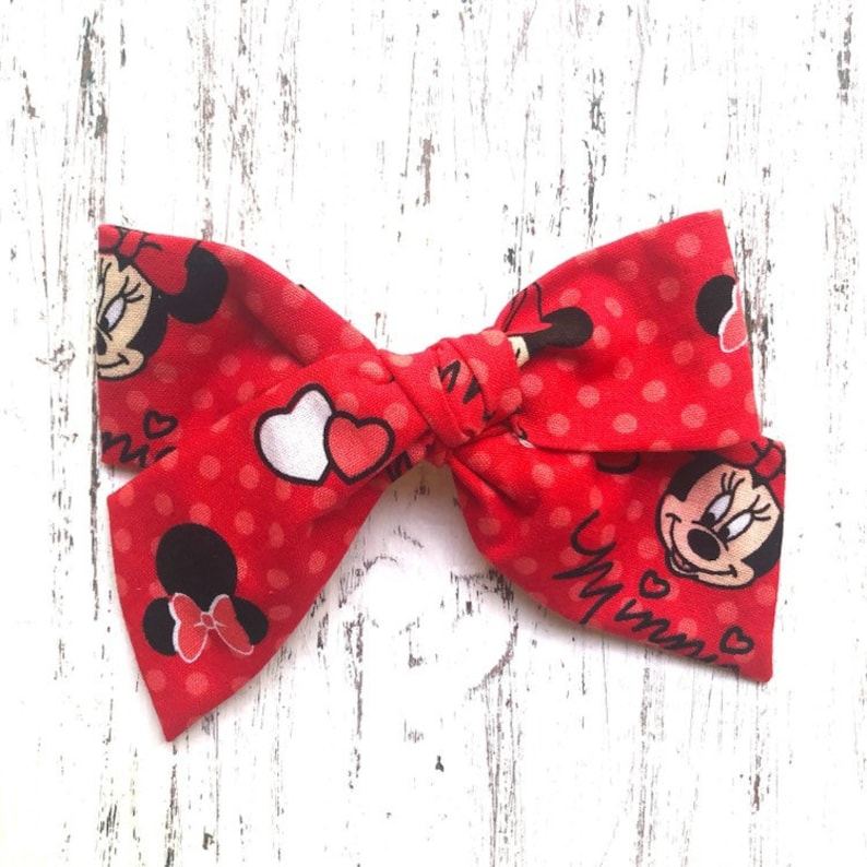 Red Minnie Mouse Bow Minnie Mouse Bow Minnie Mouse Schoolgirl Bow