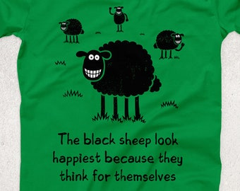 25f11fef Black Sheep Ringspun T-SHIRT / Happy / Funny