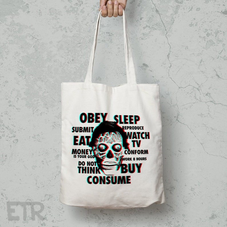 They Live Westford Mill Tote Bag Long Handles   Obey    cda0d58f54e4c