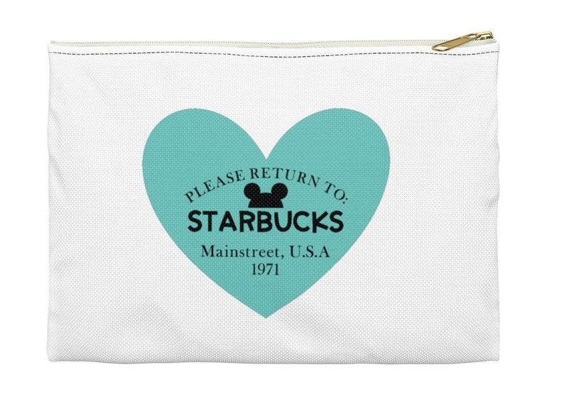 b2b7b6d503b Tiffany's Disney Starbucks Cosmetic Bag Makeup Bag | Etsy