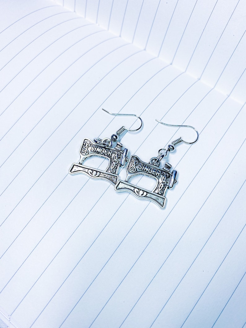 sewing jewelry gift Singer Sewing Machine Drop Earrings sewing machine charm ADD ON ONLY