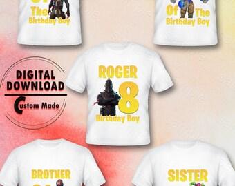 Fortnite Family Iron On Transfer Birthday Shirt Designs Printable