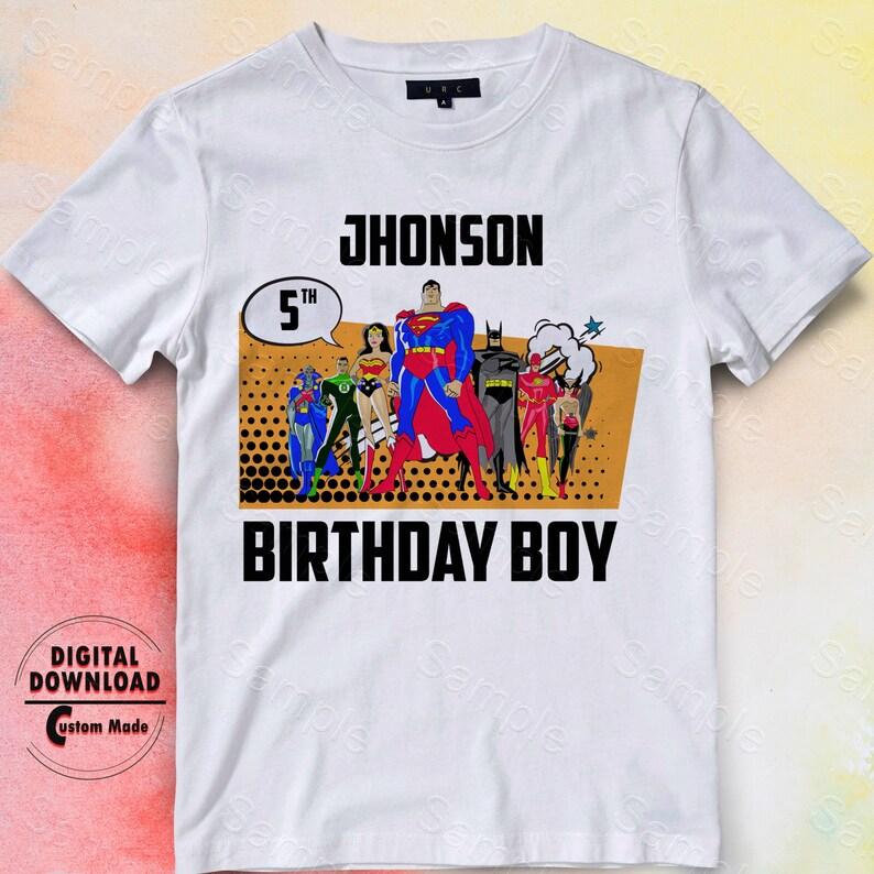 Justice League Iron On Transfer Birthday Shirt