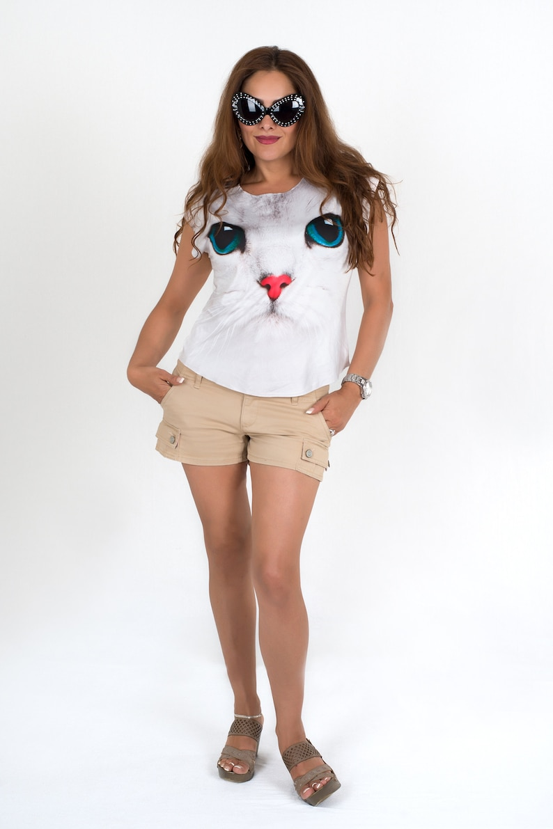 Shirt  Girls  Cat Nose image 0