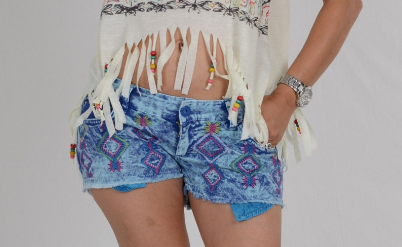 Hot Pants  Blue  Indian Style  Girls image 0