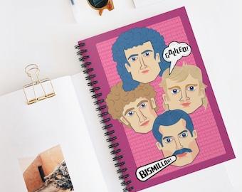 Queen Spiral Notebook - Ruled Line