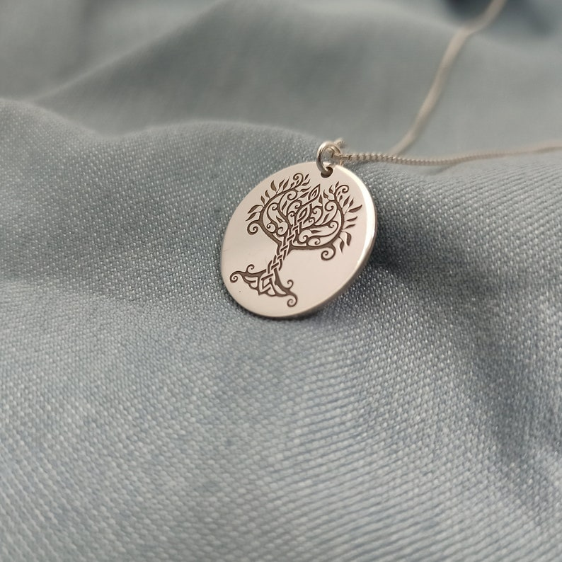 Sterling Silver  Tree of Life Jewelry   Engravable Tree of Life Necklace