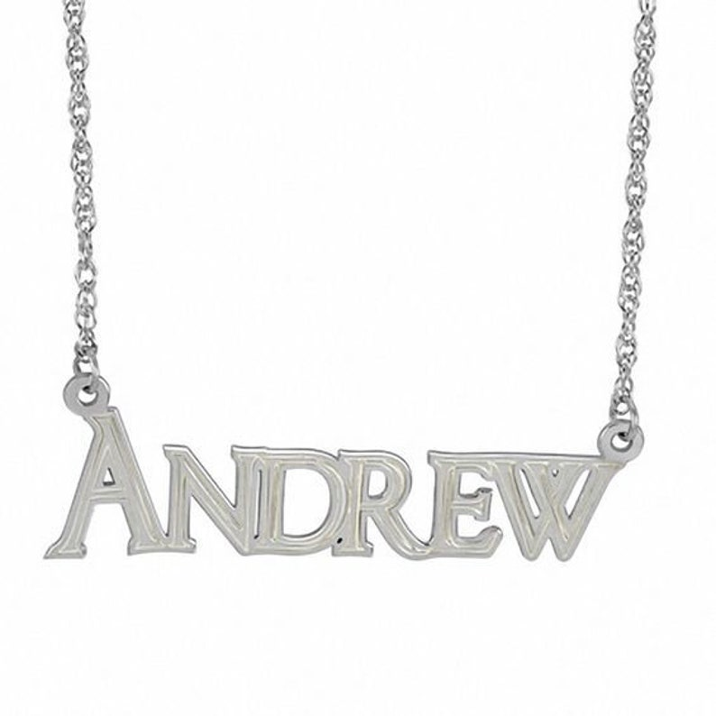 Silver Name Necklace For Guy Men/'s Name Necklace Boyfriend Necklace Boyfriend Gift Men Nameplate Necklace Mens Name Chain