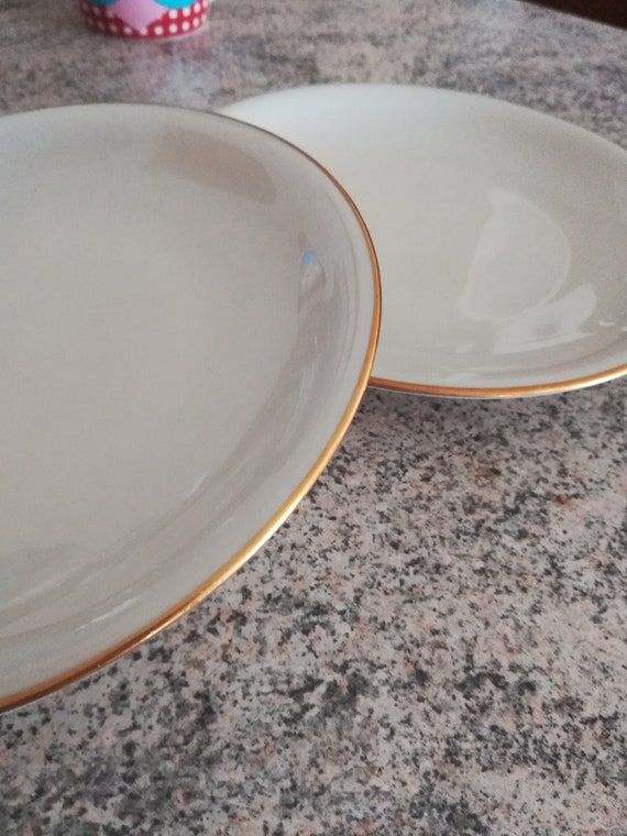 alte Kuchen Teller Goldrand | Etsy