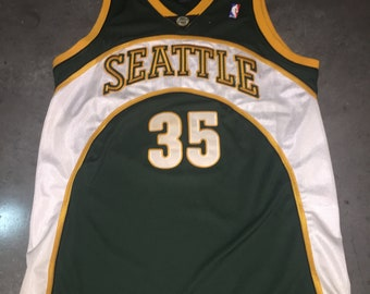 2480685ed Kevin Durant AUTHENTIC Adidas Seattle Super Sonics 44 Jersey Rare Golden  State Warriors Sewn NBA Basketball