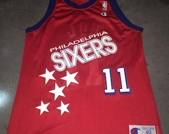 90f56fba7 Manute Bol Champion Jersey 40 ULTRA RARE Philadelphia 76ers Sixers NBA  Basketball Vintage 1990s