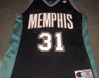 104b4314b2ce Shane Battier Champion Jersey 40 Memphis Grizzlies 90s Vintage Rare NBA  Basketball Jersey!