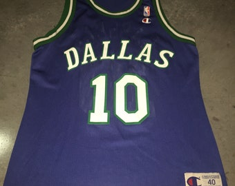 992e5c8c0b7 Sam Cassell Champion Jersey Dallas Mavericks Super Rare 1990s Luca Doncic  Vintage NBA Basketball