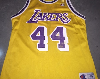 6f991f8e Jerry West Champion Jersey 40 Vintage 90s Rare NBA @ 50 Gold Jumpman Los  Angeles Lakers HOF Small Medium